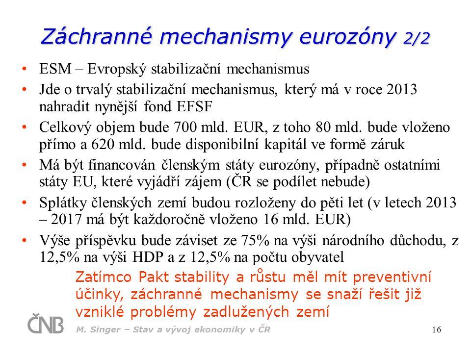 Záchranné mechanismy eurozóny 2/2