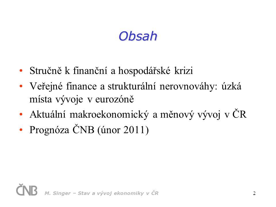 Obsah Stručně k finanční a hospodářské krizi