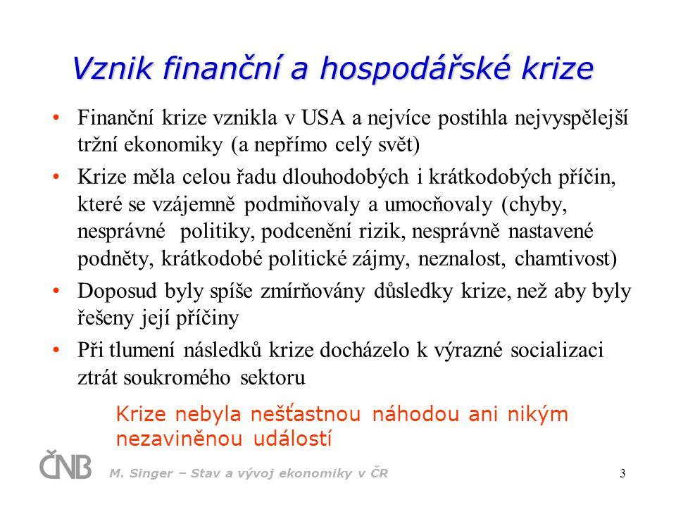 Vznik finanční a hospodářské krize