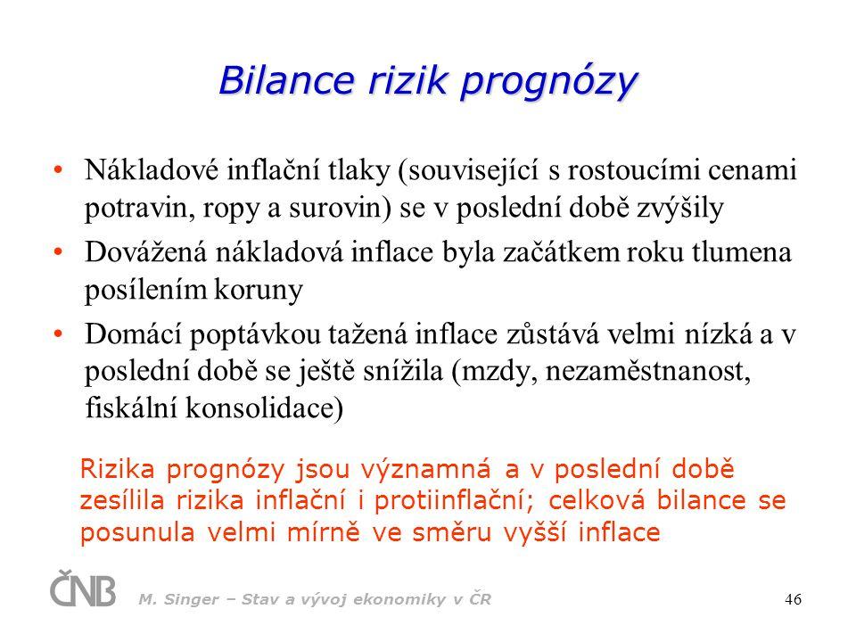 Bilance rizik prognózy