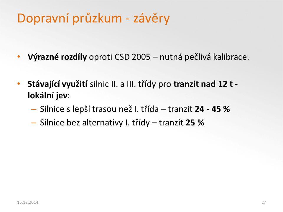 Dopravní průzkum - závěry