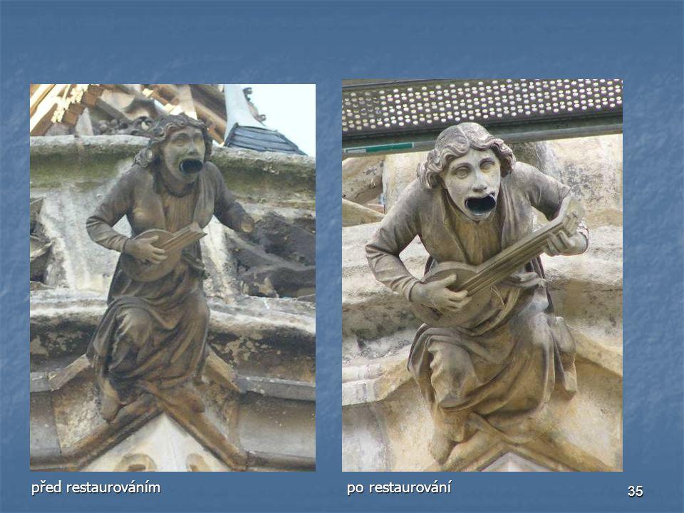 před restaurováním po restaurování