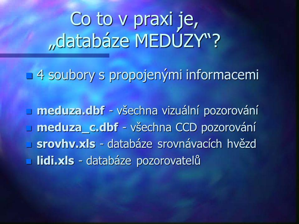 """Co to v praxi je, """"databáze MEDÚZY"""