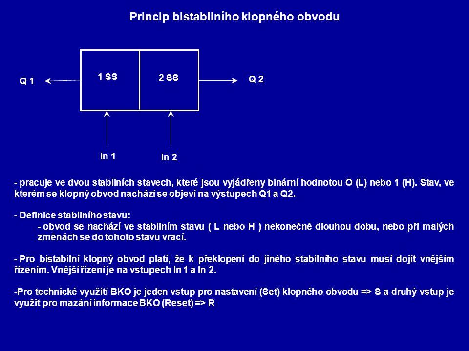 Princip bistabilního klopného obvodu