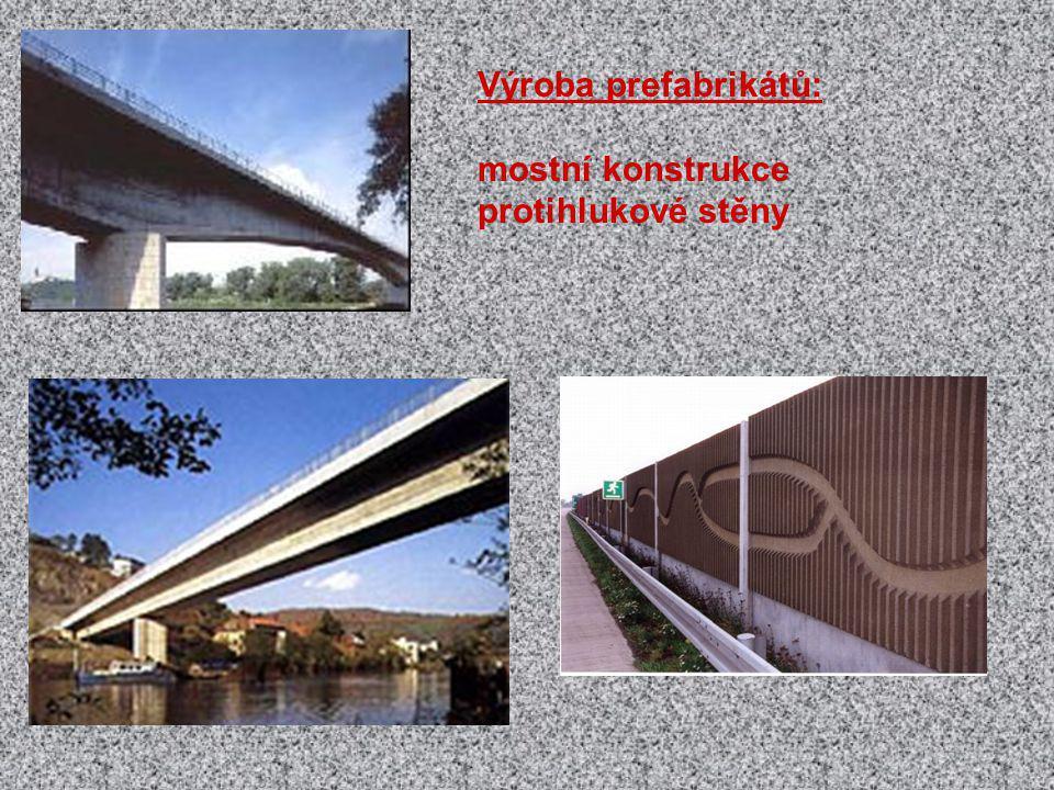 Výroba prefabrikátů: mostní konstrukce protihlukové stěny