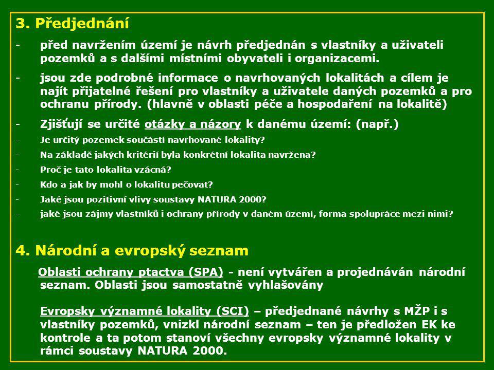 4. Národní a evropský seznam