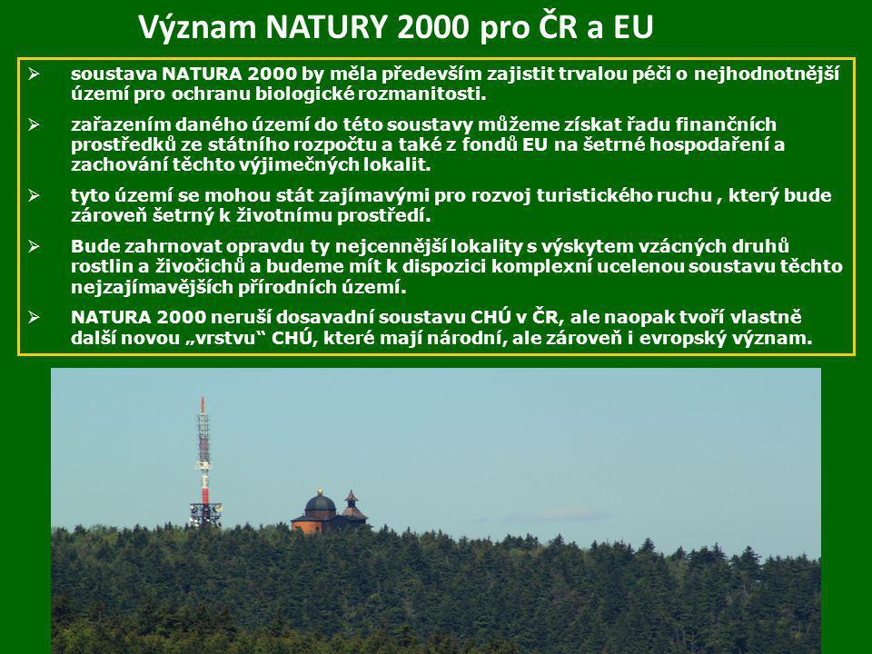 Význam NATURY 2000 pro ČR a EU