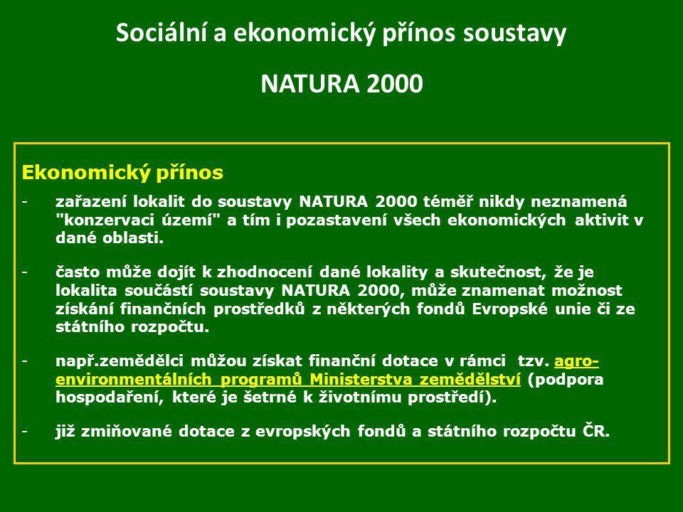 Sociální a ekonomický přínos soustavy