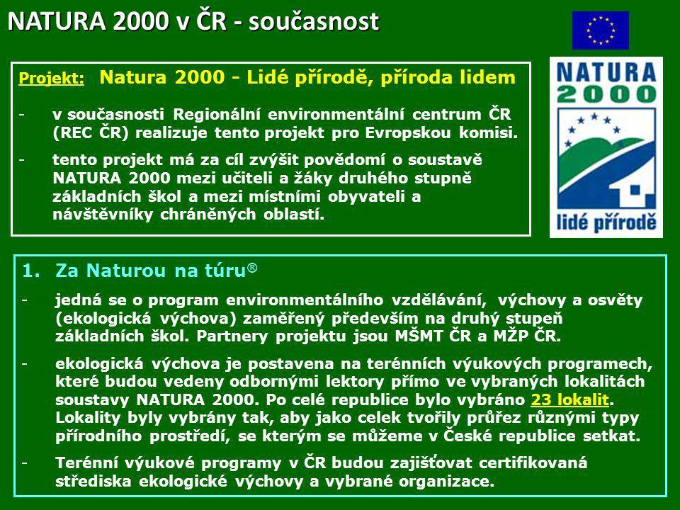NATURA 2000 v ČR - současnost