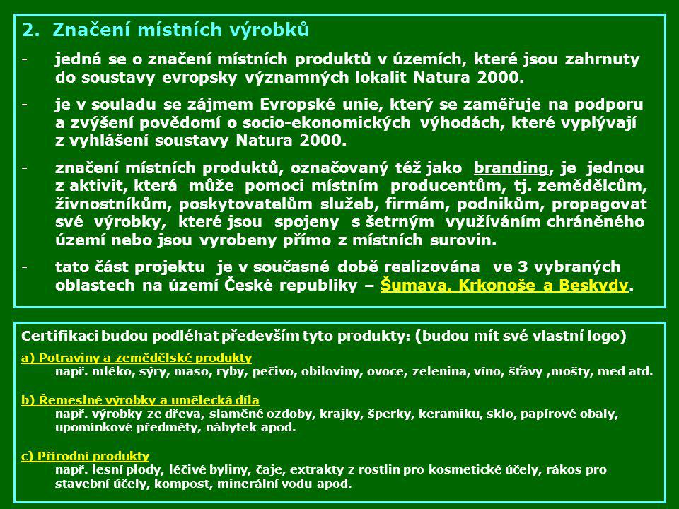 2. Značení místních výrobků