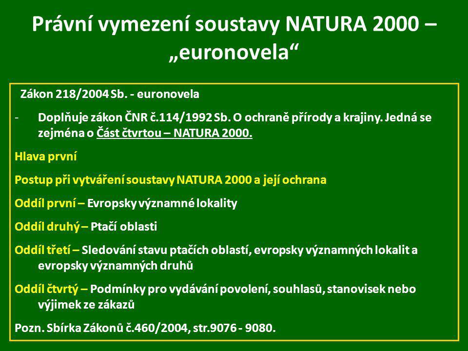"""Právní vymezení soustavy NATURA 2000 – """"euronovela"""