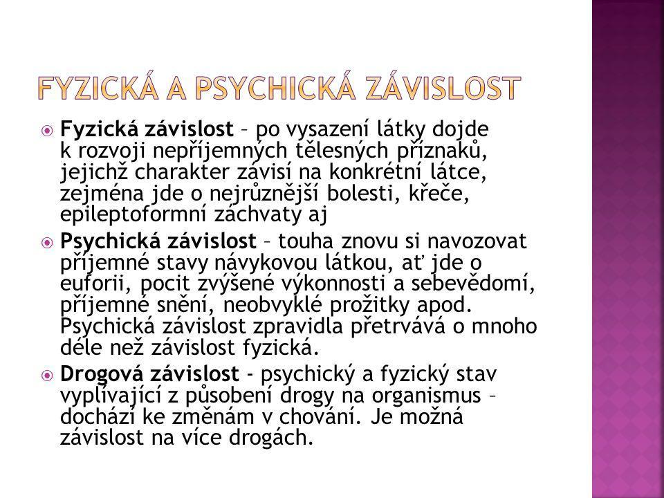 Fyzická a psychická závislost