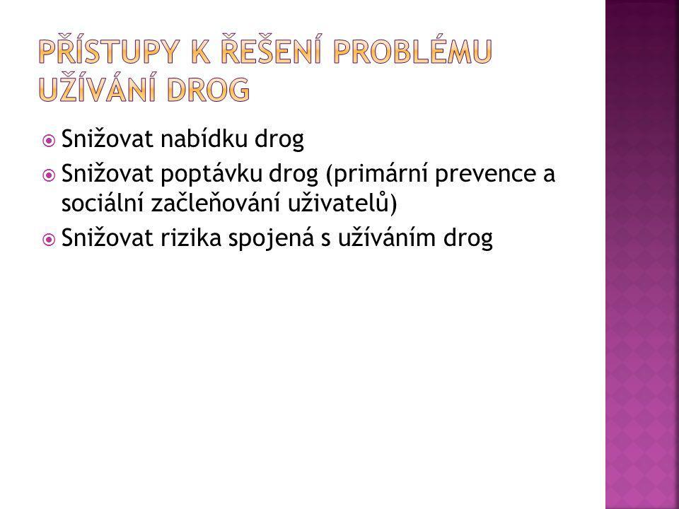 Přístupy k řešení problému užívání drog