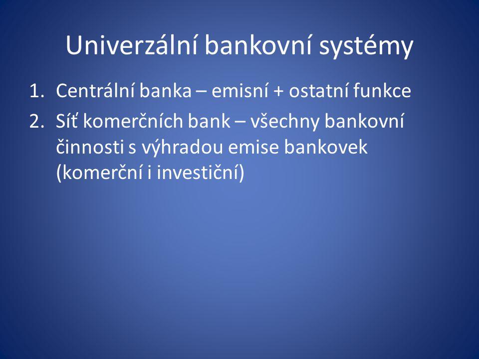 Univerzální bankovní systémy