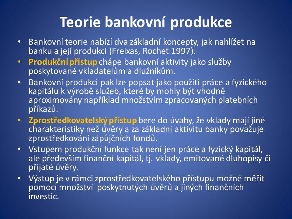 Teorie bankovní produkce