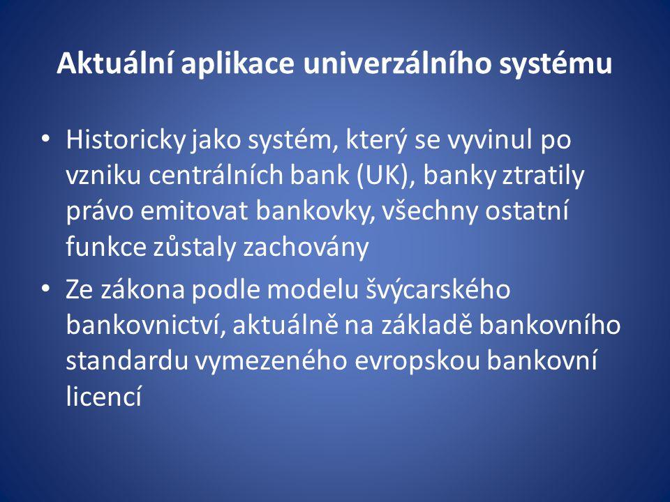 Aktuální aplikace univerzálního systému