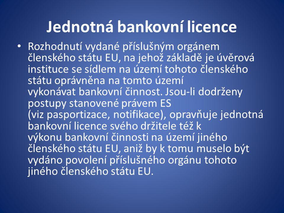 Jednotná bankovní licence