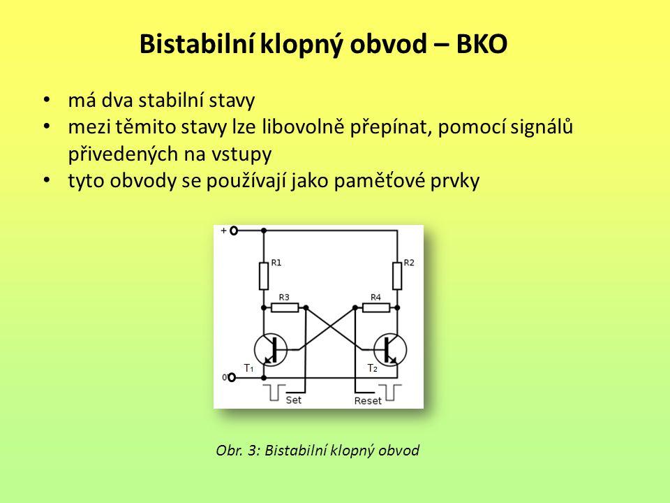 Bistabilní klopný obvod – BKO