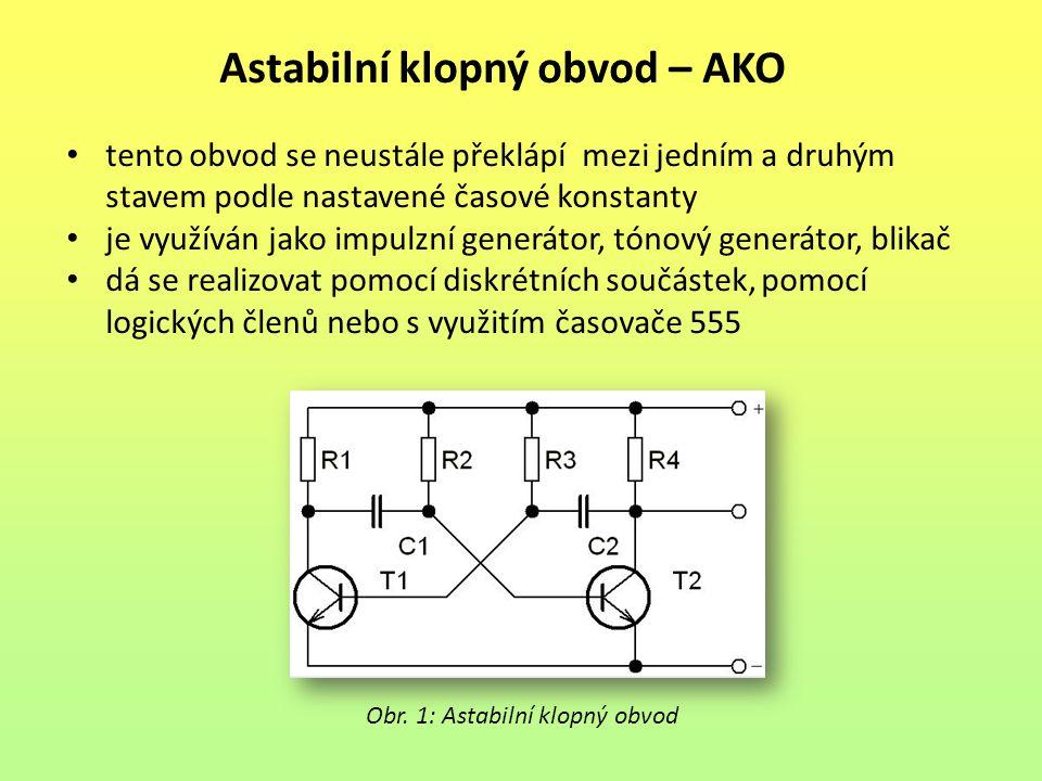Astabilní klopný obvod – AKO