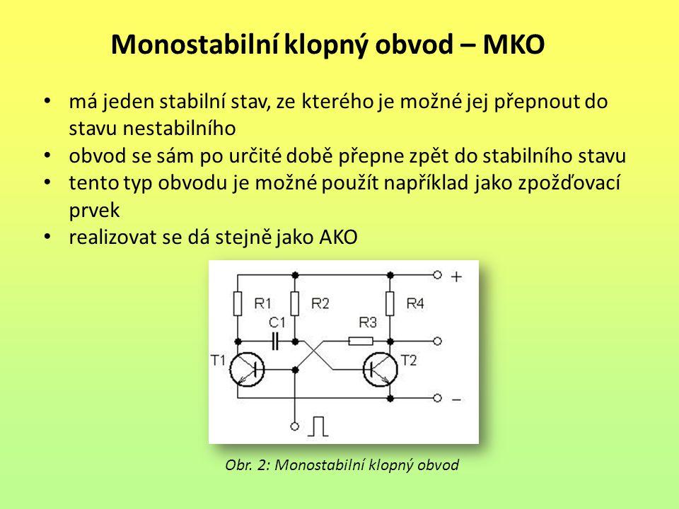 Monostabilní klopný obvod – MKO