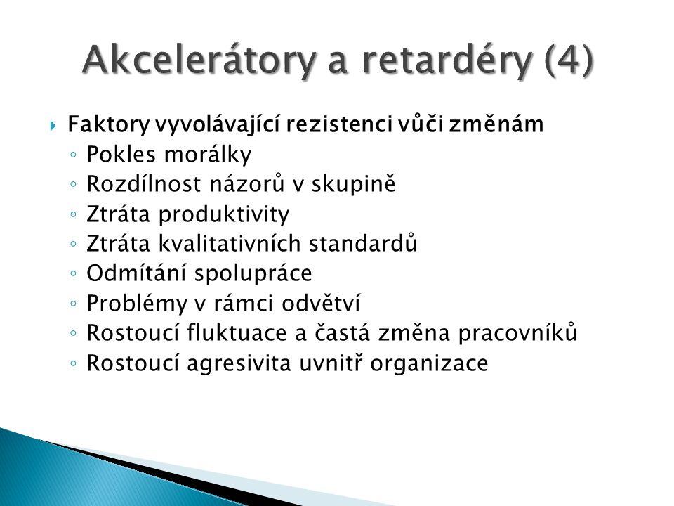 Akcelerátory a retardéry (4)