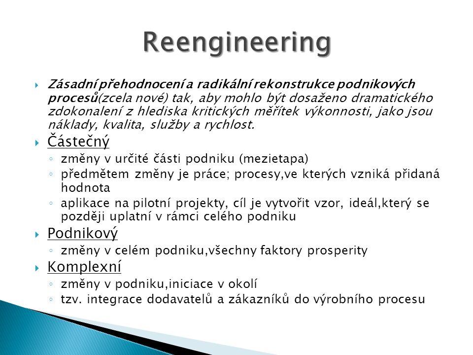 Reengineering Částečný Podnikový Komplexní