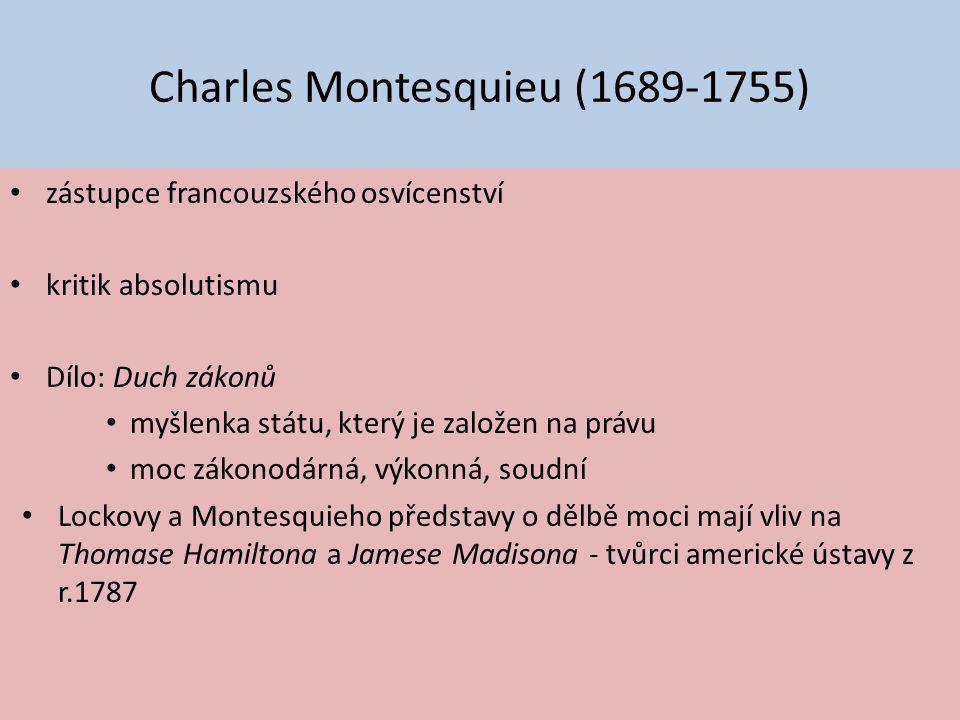 Charles Montesquieu (1689-1755)