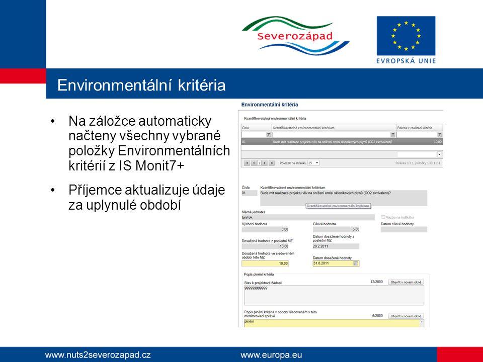 Environmentální kritéria