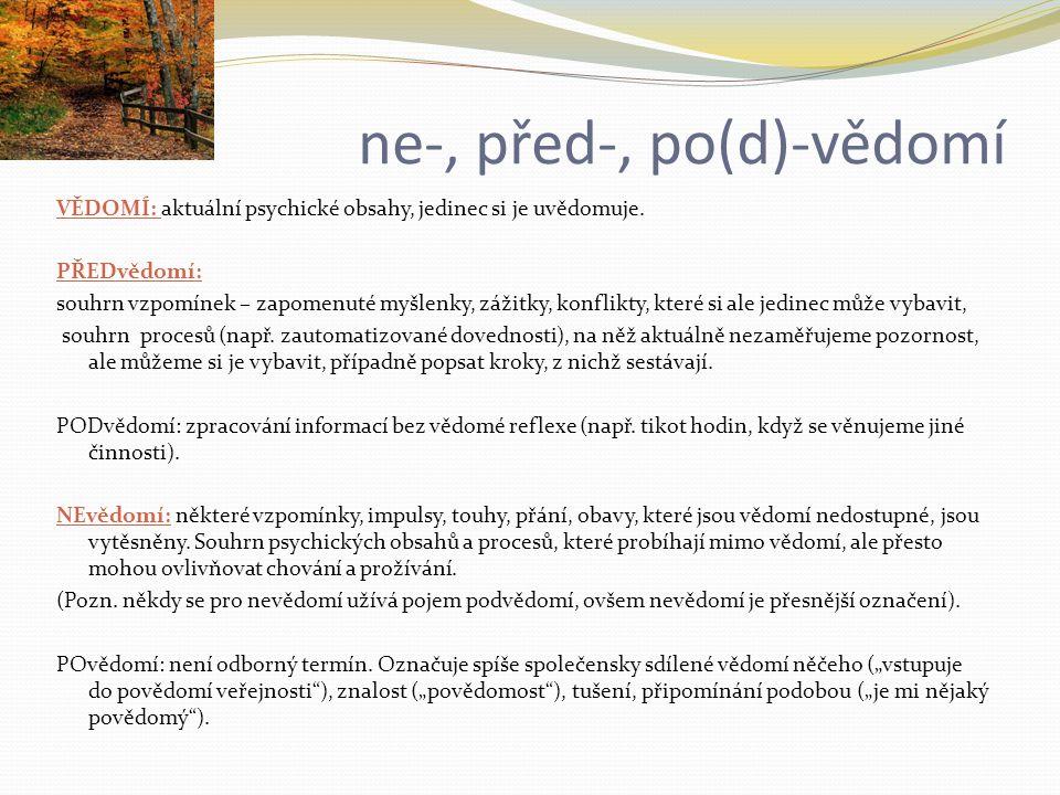 ne-, před-, po(d)-vědomí