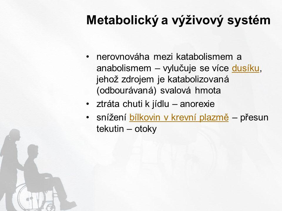 Metabolický a výživový systém