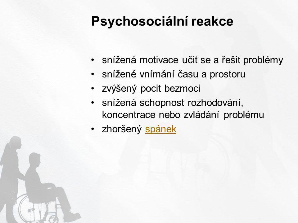 Psychosociální reakce