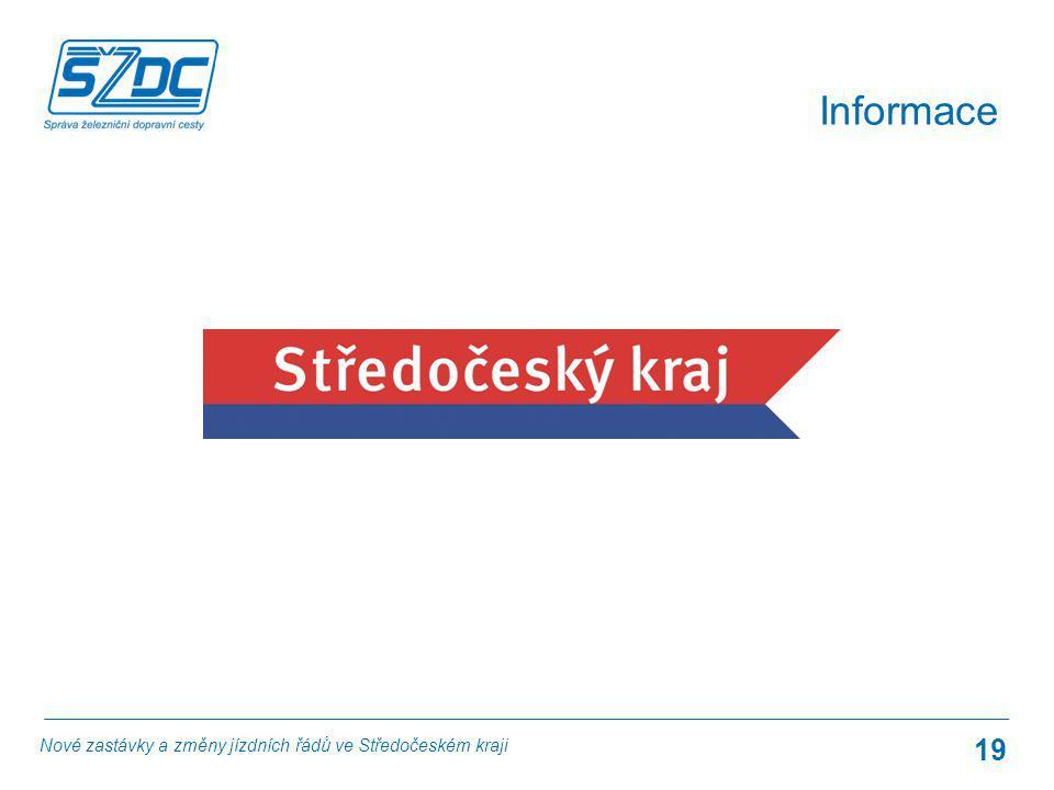 Informace Nové zastávky a změny jízdních řádů ve Středočeském kraji