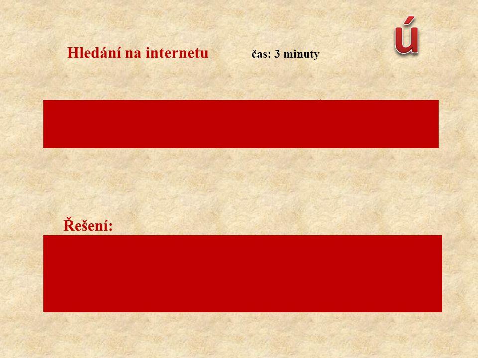 ú Hledání na internetu Řešení: