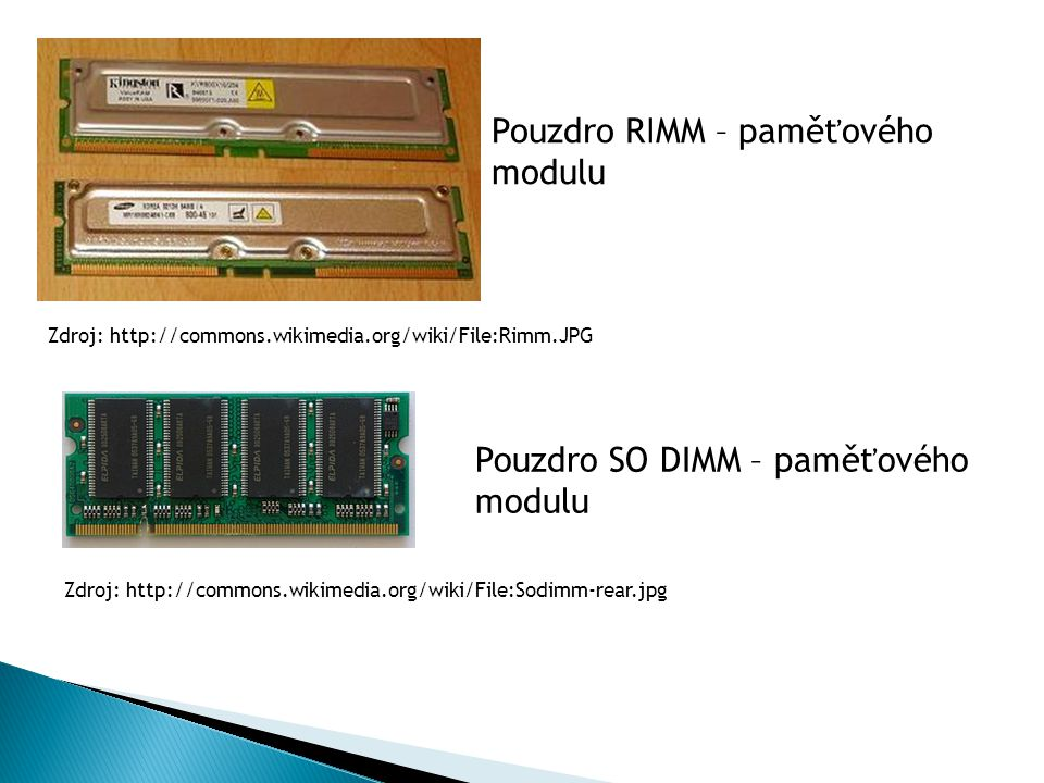 Pouzdro RIMM – paměťového modulu