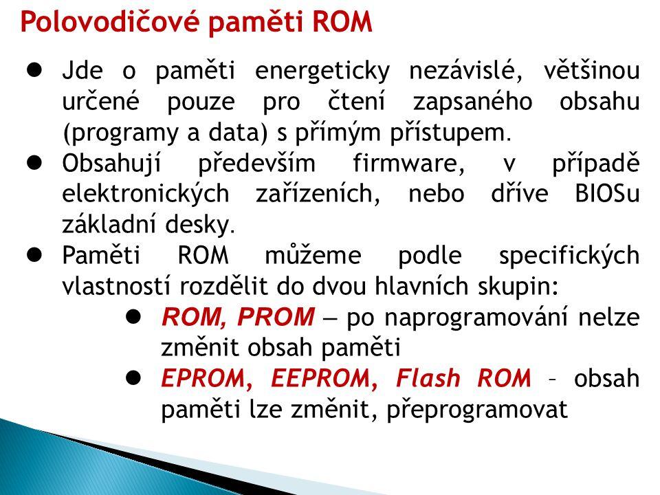 Polovodičové paměti ROM