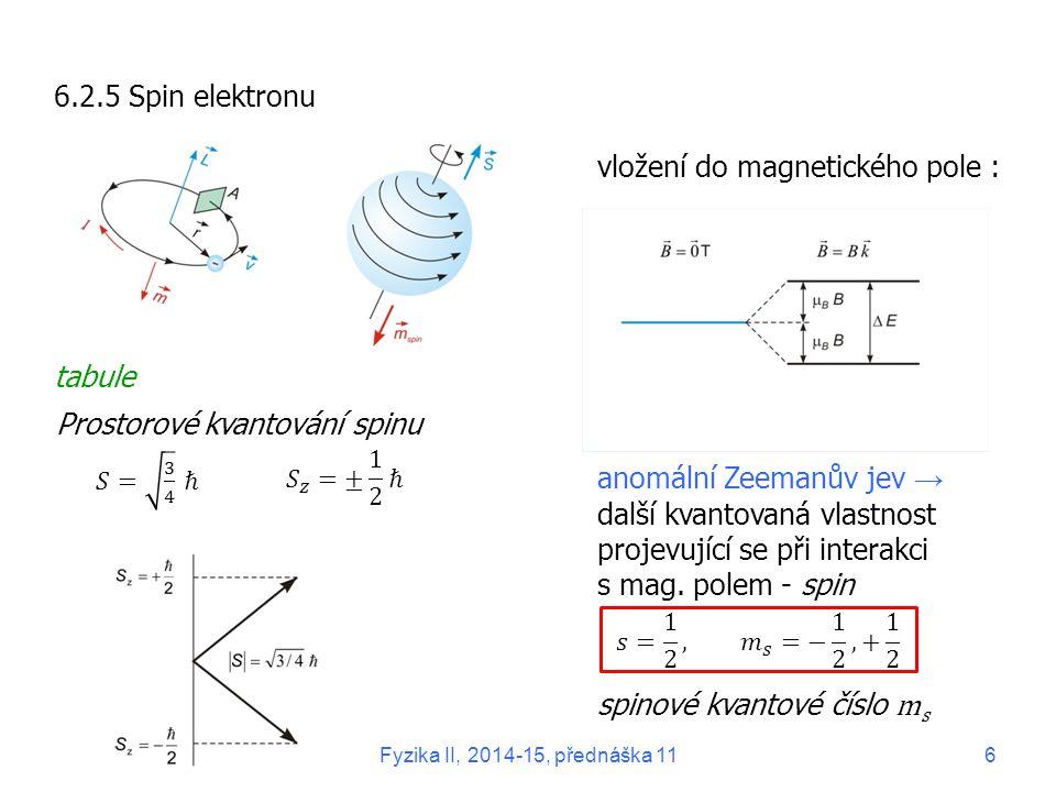 vložení do magnetického pole :