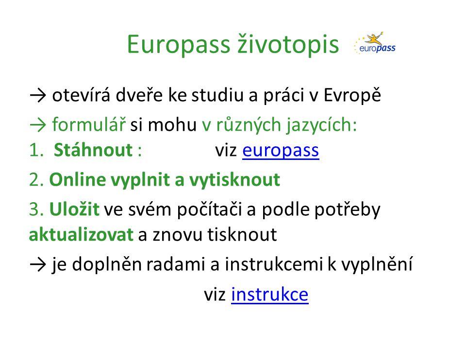 Europass životopis