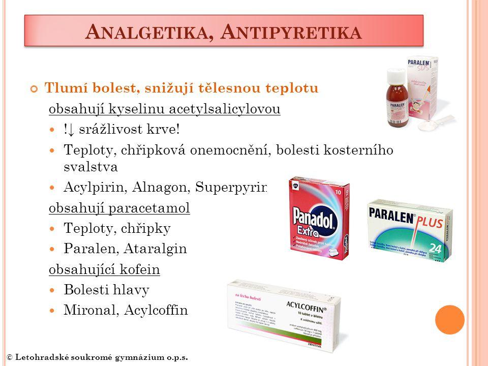 Analgetika, Antipyretika