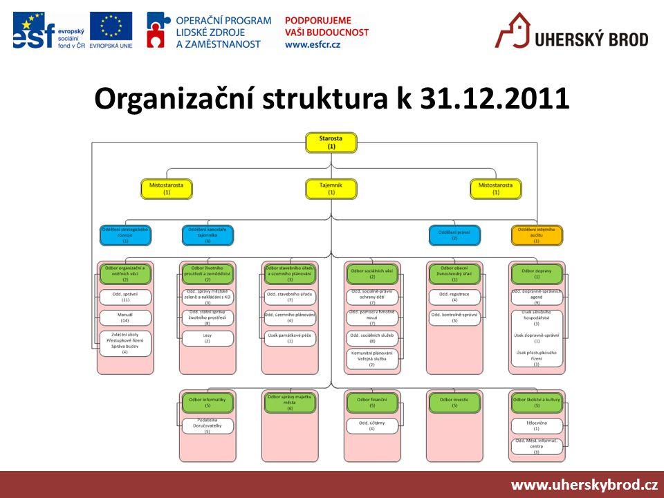 Organizační struktura k 31.12.2011