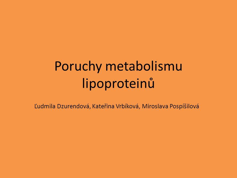 Poruchy metabolismu lipoproteinů