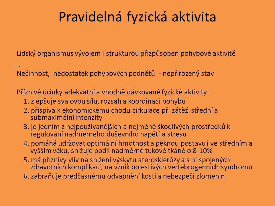 Pravidelná fyzická aktivita
