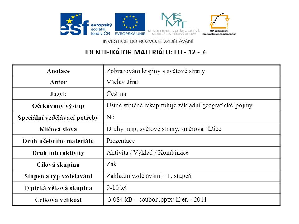 Identifikátor materiálu: EU - 12 - 6