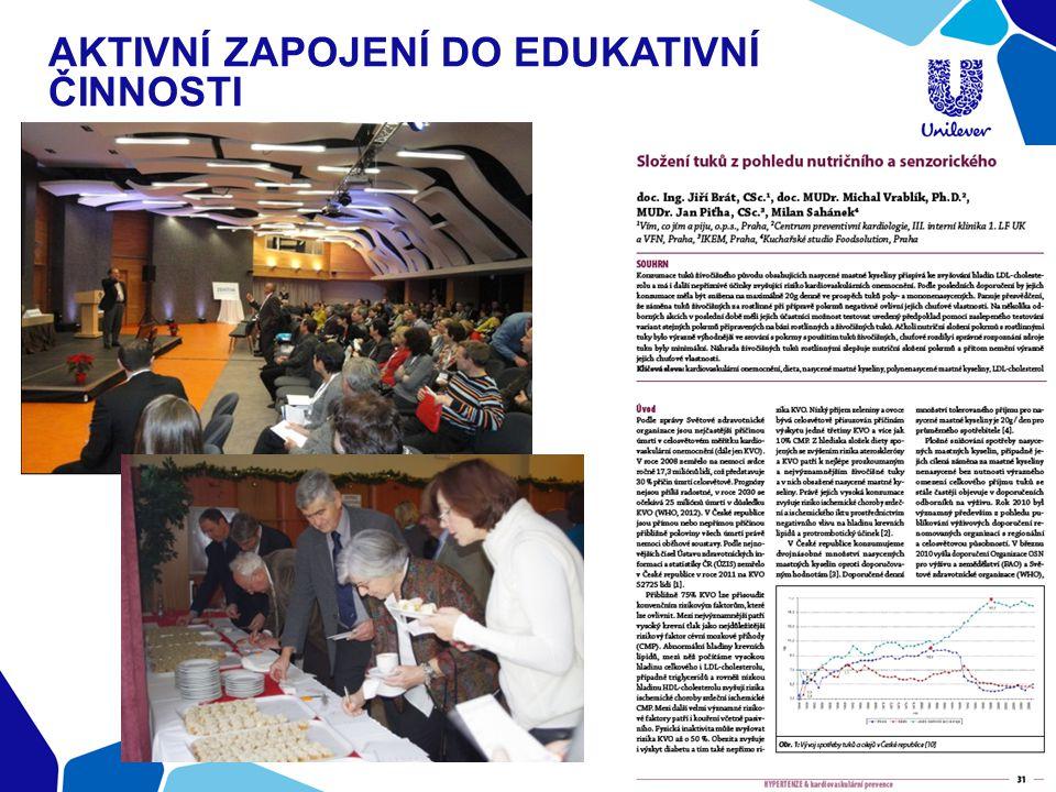 Aktivní zapojení do edukativní činnosti