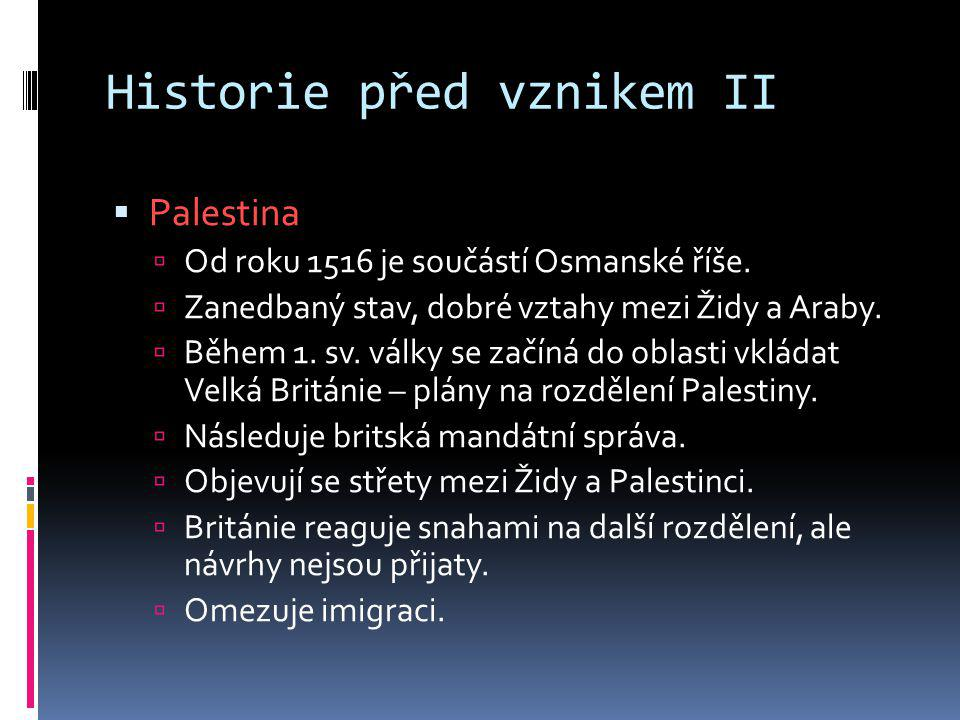Historie před vznikem II