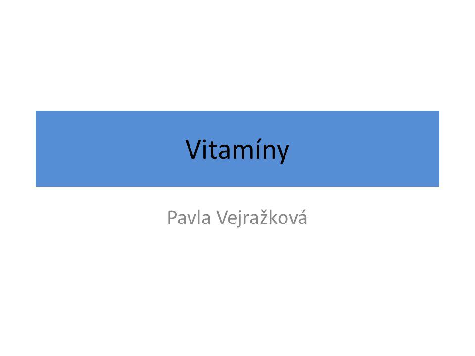 Vitamíny Pavla Vejražková