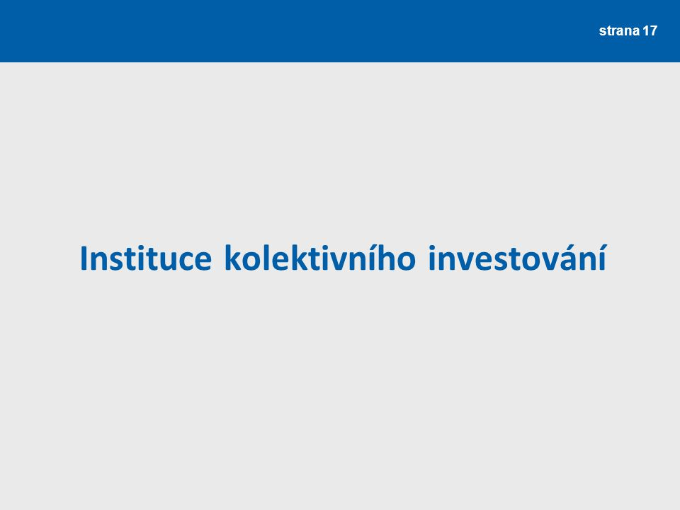 Instituce kolektivního investování