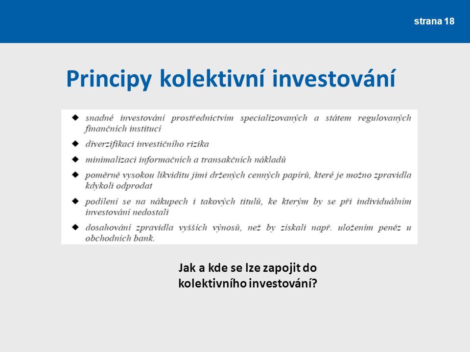 Principy kolektivní investování
