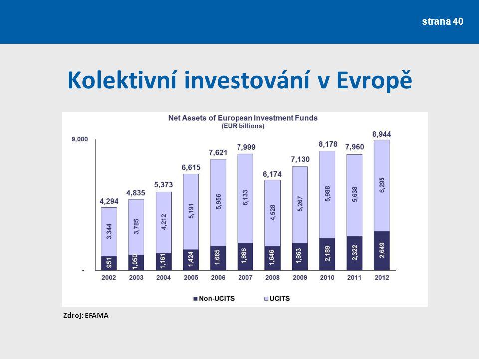 Kolektivní investování v Evropě