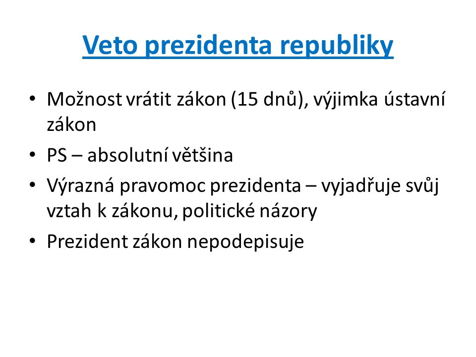 Veto prezidenta republiky