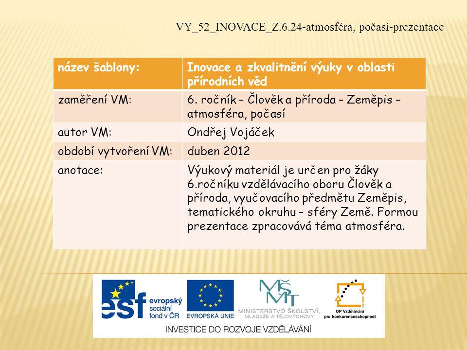 VY_52_INOVACE_Z.6.24-atmosféra, počasí-prezentace